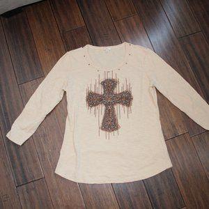 3/4 sleeve cross top